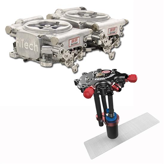 FiTech Go EFI 2x4 Dual-Quad Fuel Injection System Kit w/Hy-Fuel T