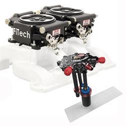 Go EFI 2x4 Dual-Quad Fuel Injection Syst. Kit w/Hy-Fuel Tank, Blk