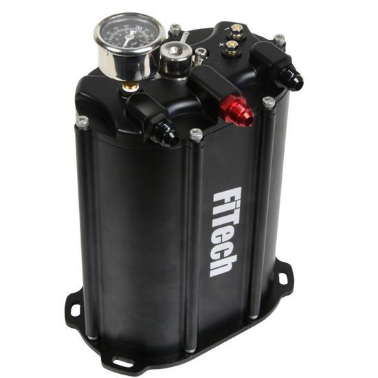 Edelbrock Electric Fuel Pump 1792; Quiet-Flo Black Aluminum Gasoline