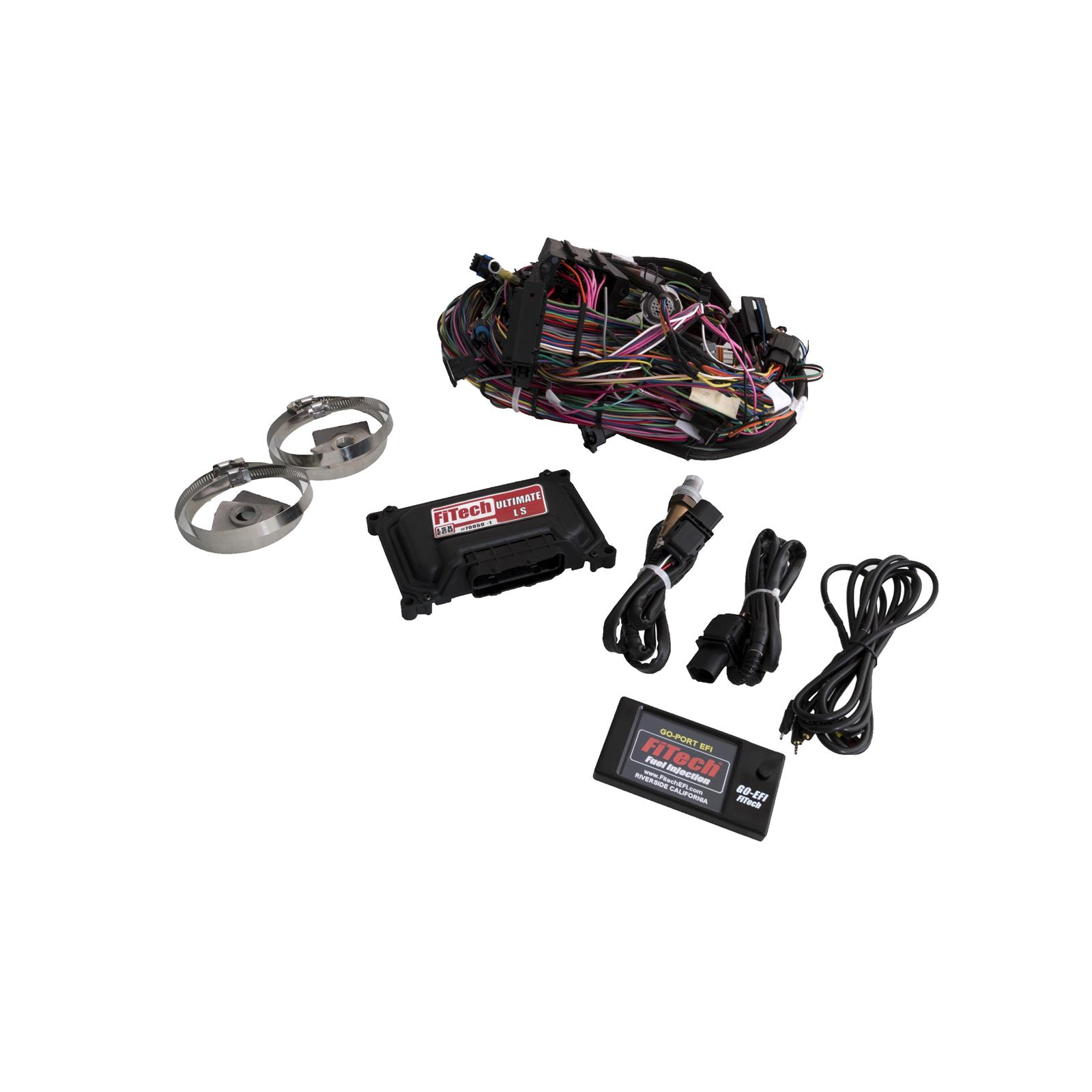 Fitech 70050 Ultimate Ls Standalone Efi Ecu W O Trans Control Wiring Harness Kit For 5 0 Engine 2