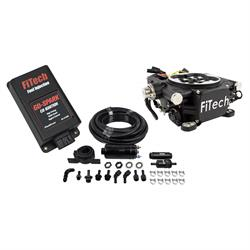 FiTech 93102 Go EFI 4 Black Master Kit,Inline Fuel Pump w/CDI box