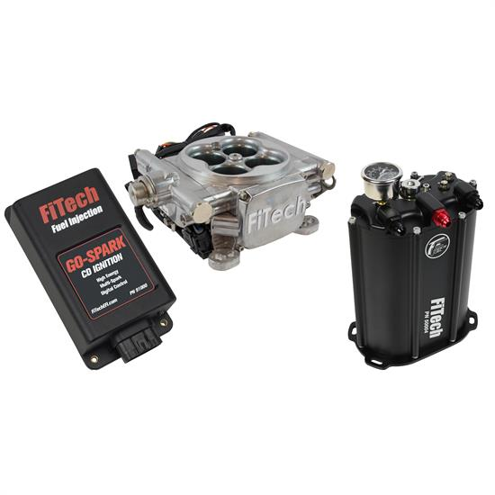 FiTech 93501 Go EFI 4 Aluminum Master Kit w/ Force Fuel w/CDI box