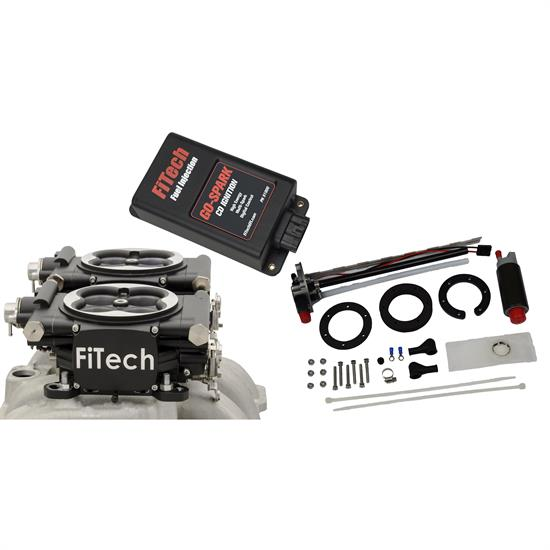 FiTech 93662 Go EFI 2x4 625 HP EFI Black w/ In Tank Kit w/CDI box