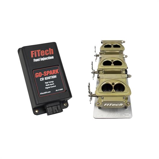FiTech 93961 Go EFI 3x2 Tri Power EFI Classic Gold External ECU