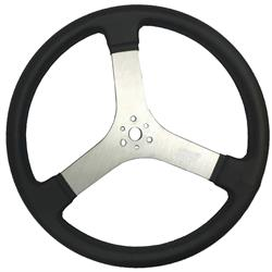 Max Papis Innovations MPI-DR-17 Flat Steering Wheel, 17 Inch