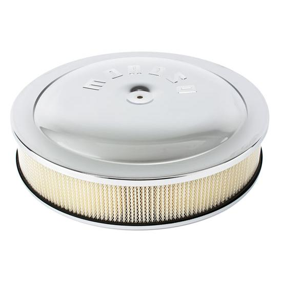 Moroso 65910 Chrome Air Cleaner, 14 x 3 Inch