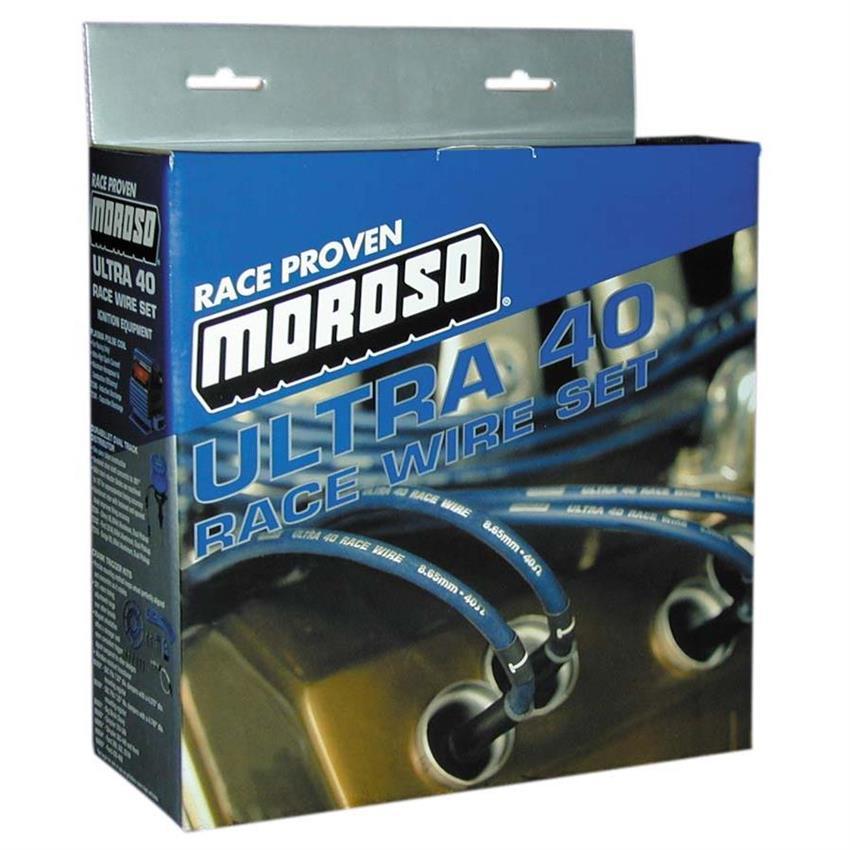 Moroso Ultra 40 Custom Fit LS Plug Wire Set, Blue Wire