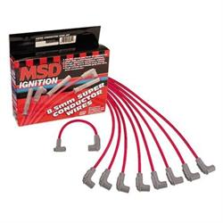MSD 31659 8.5mm Spark Plug Wires Set, Chevy Socket, Over Valve Cover