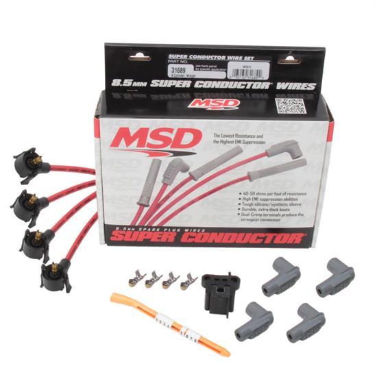 MSD 31689 8.5mm Midget Spark Plug Wires Set, Universal on universal brake light switch, universal trailer hitch, universal headlight switch, universal fuel pump, universal air filter,