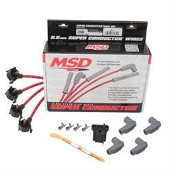 MSD 31689 8.5mm Midget Spark Plug Wires Set, Universal