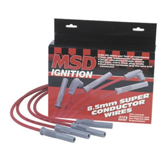 MSD 32219 Super Conductor Plug Wires, 96-97 Mustang Cobra, 4.6L
