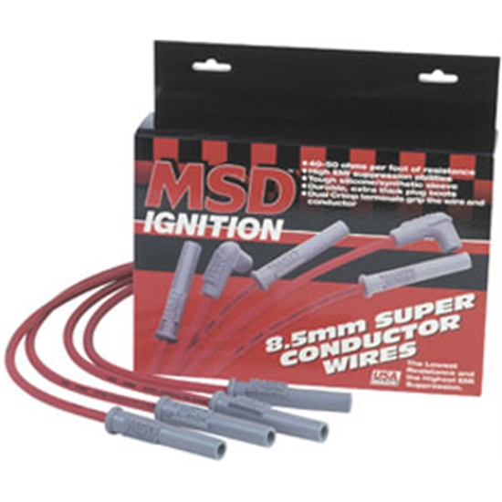 MSD 32559 Wire Set, 8.5mm Super Cond., 00-04 Pontiac Grand Am, 3.4L V6