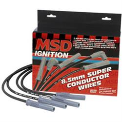 MSD 35383 Wire Set, SC Blk, Ford 351C-460, With HEI Cap