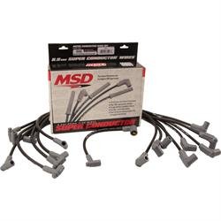 MSD 35593 Wire Set, SC Blk, SB Chevy With HEI Cap