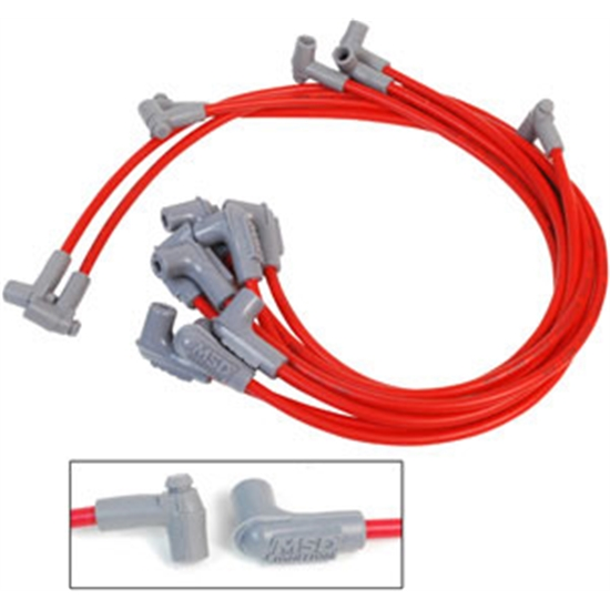 MSD 35659 Super Conductor Plug Wires, Small Block Chevy With HEI Cap