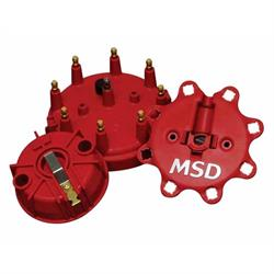Lincoln V8 Male MSD Distributor Cap 8408; Extra Duty Red HEI for Ford