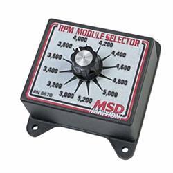 MSD 8670 RPM Module Rev Limiter Selector Switch, 3000-5200 RPM