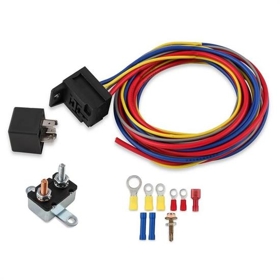 MSD 89617 Electric Fan Harness and Relay Kit, Manual, 30A | Relay Kit Wiring Diagram |  | Speedway Motors