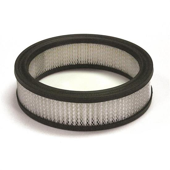 Mr Gasket 1486A Air Filter, Replacement Element, 6.5 x 2 Inch, White