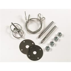 Mr Gasket 1617 Chrome Hood Pin Kit, 4 Inch Steel