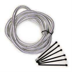 Mr Gasket 4521 Flexible Convoluted Wire Covering, 3/8 Inch, Chrome