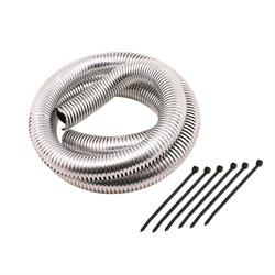 Mr Gasket 4523 Flexible Convoluted Wire Covering, 3/4 Inch, Chrome