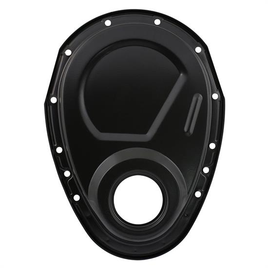 Mr Gasket 4590BP Timing Cover Kit, Flat Black, SBC