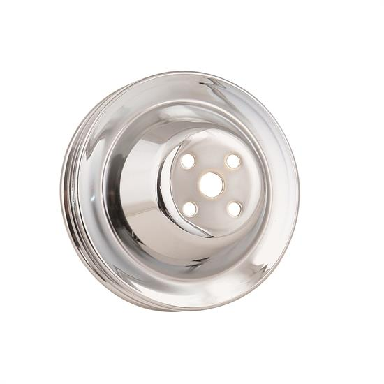 Mr Gasket 4971 Chrome Water Pump Pulley, Double Groove