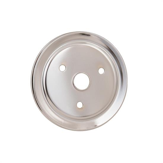 Mr Gasket 4972 Chrome Crank Pulley, Single Groove, 1955-68