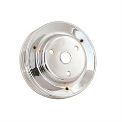 Mr Gasket 4978 Chrome Crank Pulley, Triple Groove