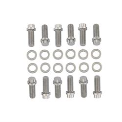 Mr Gasket 5003 Intake Manifold Bolt Kit, SBC, 3/8-16 x 1 IN, 12 Point