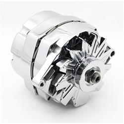 Mr Gasket 5122 Chrome Alternator, Late GM, 80 Amp
