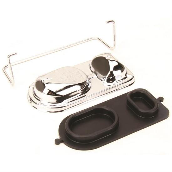 GM Chrome Master Cylinder Cover Bail Brake Cap bendix Fits Ford Chevy