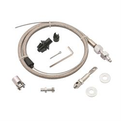 Mr Gasket 5657 Throttle Cable Kit, Stainless Steel Braided