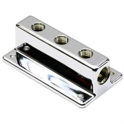 Speedway Three Outlet T-Style Chrome Fuel Distribution Block