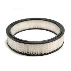 Mr Gasket 6403 Air Filter, Replacement, White, 14 x 3 Inch
