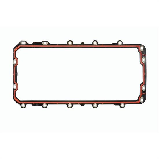 Mr Gasket 6684 Oil Pan Gasket, Molded Rubber, 1 piece, SBF, 281/330