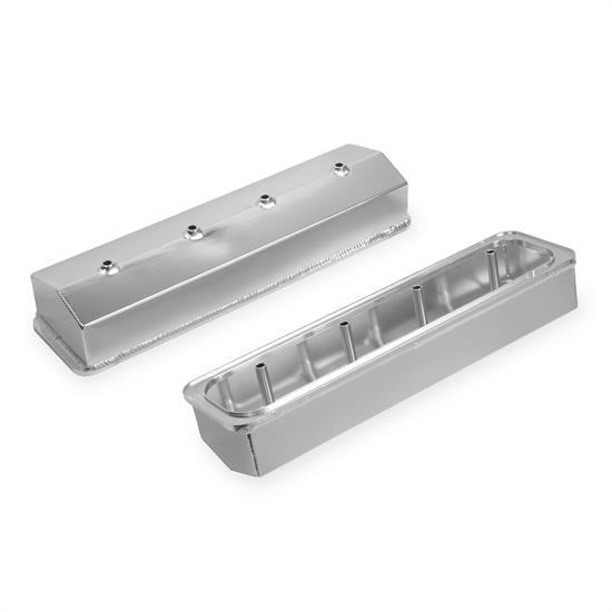 Mr Gasket 6812G Fabricated Aluminum Valve Covers, SBC, Silver