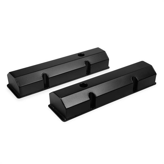 Mr Gasket 6818BG Fabricated Aluminum Valve Covers, SBC, Black