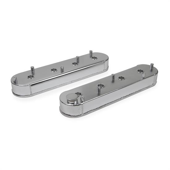 Mr Gasket 6825G Fabricated Aluminum Valve Covers, GM LS, Silver