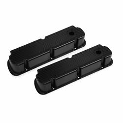Mr Gasket 6842BG Finned Fabricated Aluminum Valve Covers, 260-351W SBF