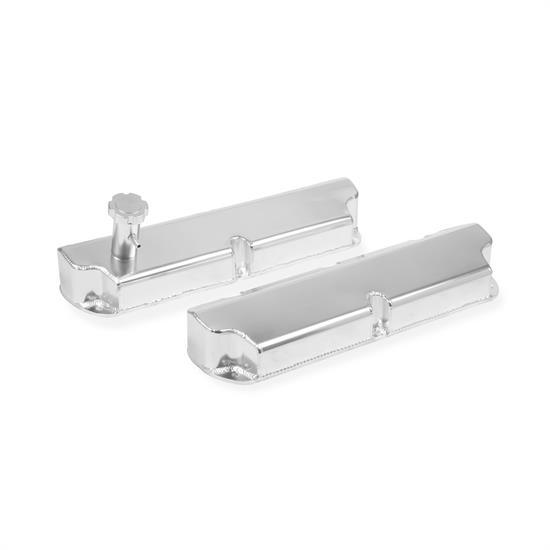 Mr Gasket 6845G Fabricated Aluminum Valve Covers, SBF, Silver