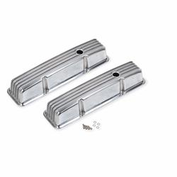 Mr Gasket 6855G Aluminum Finned Valve Covers, 283-400 SBC