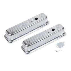 Mr Gasket 6857G Aluminum Ball Milled Center Bolt Valve Covers, SBC