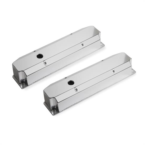 Mr Gasket 6864G Fabricated Aluminum Valve Covers, BB Chrysler, Silver