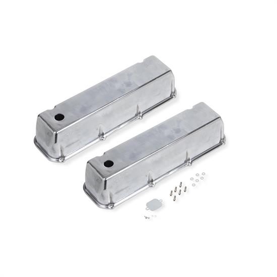 Fabricated Aluminum Long Bolt Valve Cover BBF Big Block ford Set Polished for ford 429 460