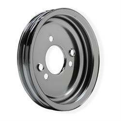 Mr Gasket 8824MRG Chrome Crankshaft Pulley, 1965-68 BBC, Double Groove