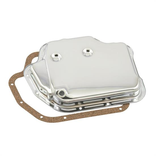 Mr Gasket 9762 Automatic Transmission Oil Pan, Chrome, TH400