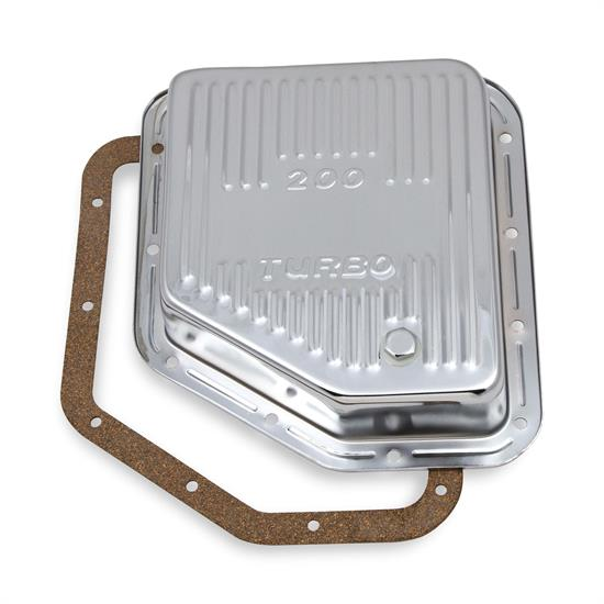 Mr Gasket 9768CMRG Transmission Oil Pan, TH200, Chrome