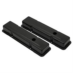 Mr Gasket 9800BP Black steel Valve Covers, 1958-86 SBC 283-400